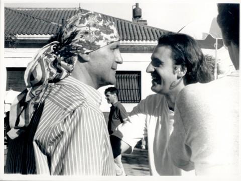 Leonardo Favio y Javier Leóz